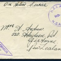 Tony Lyon - WW2 NZ Pacific Forces Mail - 16 Oct 2017