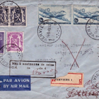 Michael Barden - Skymaster stamps on airmail letters 1946 - 1959 - 19 Jun 2017